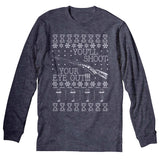 You'll Shoot Your Eye Out - Funny BB Gun Christmas Sweater-Long Sleeve