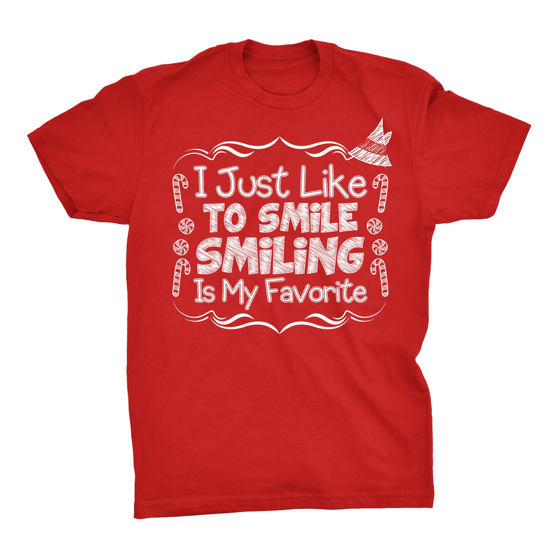 I Just Like To Smile - Christmas T-shirt