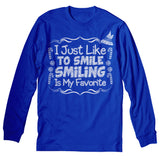 I Just Like To Smile - Christmas Long Sleeve Shirt