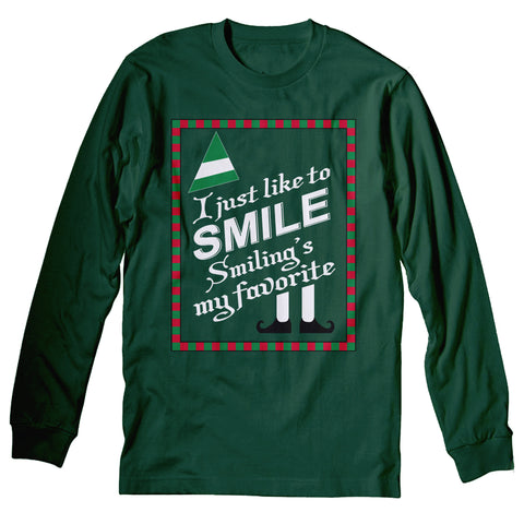 Smiling Sign - Christmas Long Sleeve Shirt