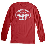 World's Drunkest Elf - Christmas Long Sleeve Shirt