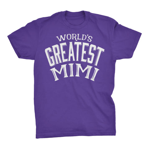 World's Greatest MIMI - 001 Mother's Day Grandmother Ladies Fit T-shirt