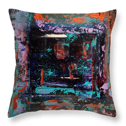 Indigo Windows  - Throw Pillow