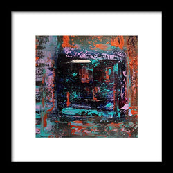 Indigo Windows  - Framed Print
