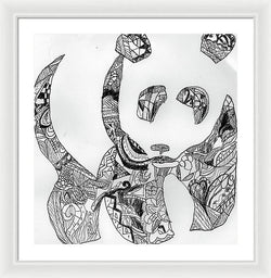 Jahs Happy Panda - Framed Print