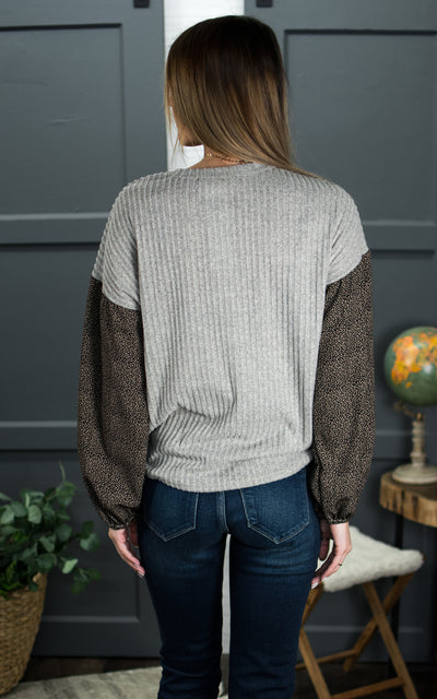 Diablo Leo Knit Top
