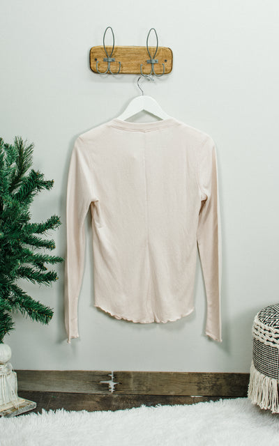 Dimpled Rose Gold Long Sleeve
