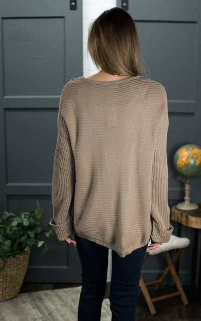 Draw Side Cuffed Sweater