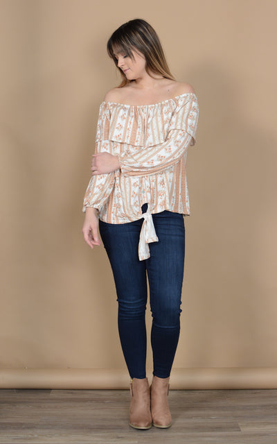 Florence Vine Off Shoulder Top
