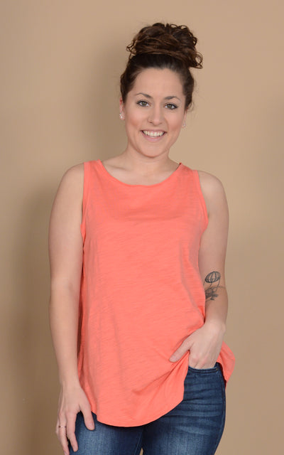 Heather Rounded Tank Top