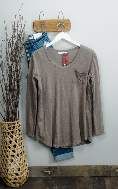 Heathered Slouchy Pocket Top