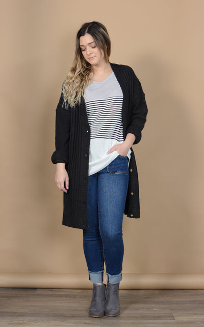 High Standards Ribbed Cardigan