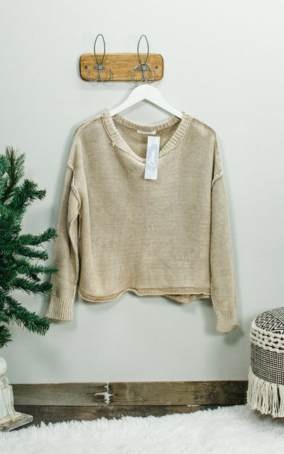 Mineral Dust Knit Sweater