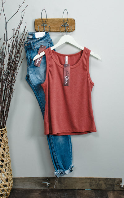 One World Ribbed Crop Tank Top