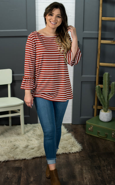 Pretty Poms Striped Top