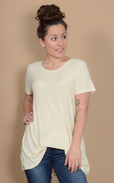 Pyrus Lace Back Tee