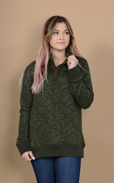 Quilted Smores Pullover Sweater