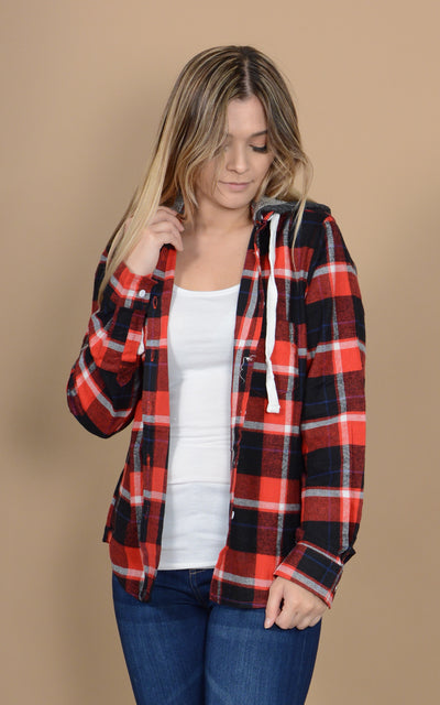 Riding Hood Flannel Top