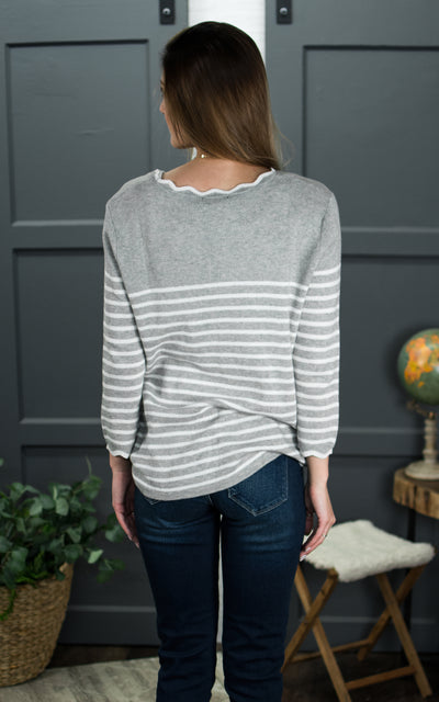 Rosie Scalloped Sweater