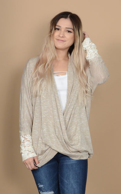 Sandy Crossing Sweater Top
