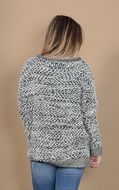 Slubby Peppered Sweater
