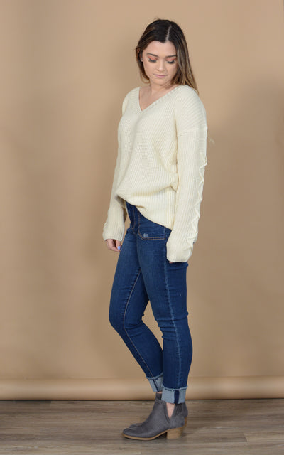 Sweeny Lace Up Sweater