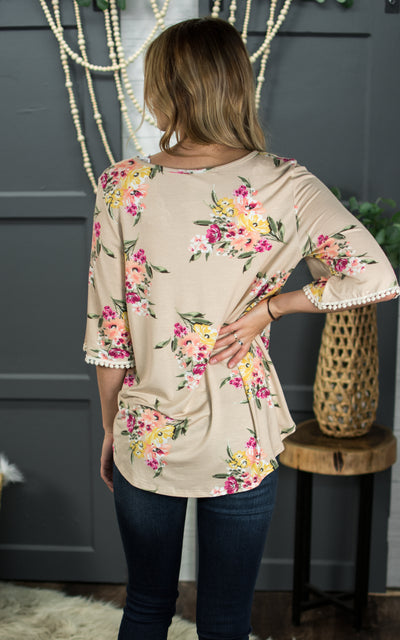 Tea Time Floral Blouse