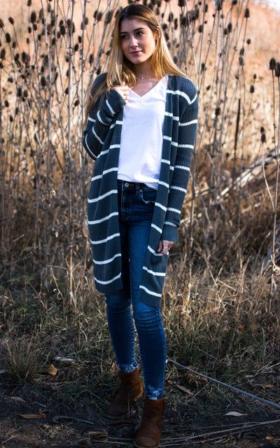 Thistle Ribbed Cardigan