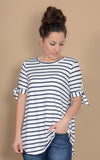 Triton Striped Tie Tee