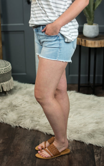 Waterville Frayed Denim Short