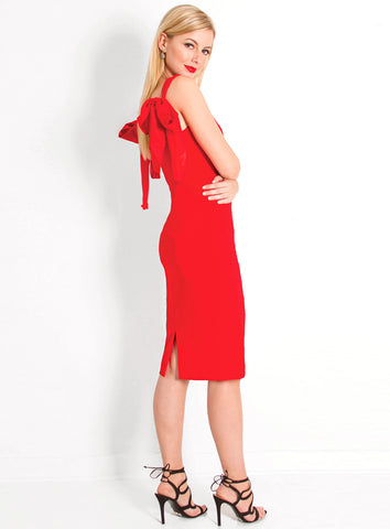 Camilyn Beth Adriene Dress - Red - The Red Toad Boutique