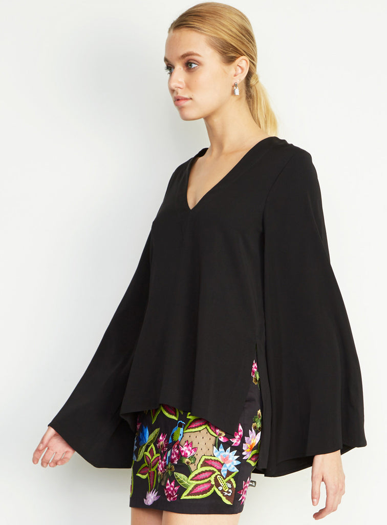 Nicole Miller Bell Sleeve Blouse - The Red Toad Boutique