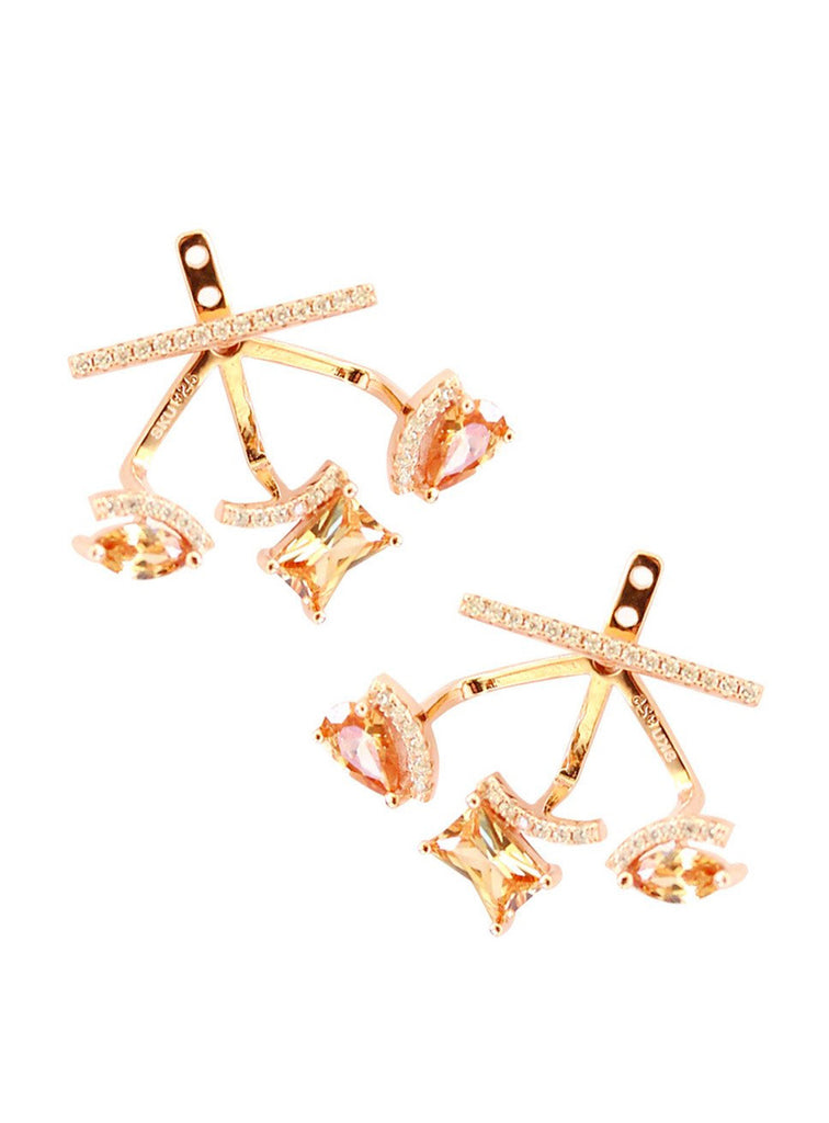 Charme Silkiner Constellation Earrings - Rose Gold - The Red Toad Boutique