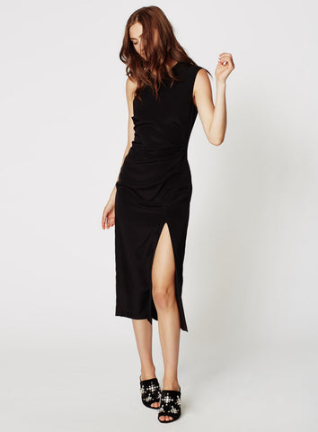 Nicole Miller Silk High Slit Dress - The Red Toad Boutique