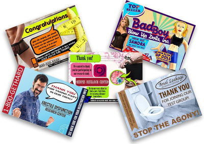 Embarrassing Postcards 5 Pack