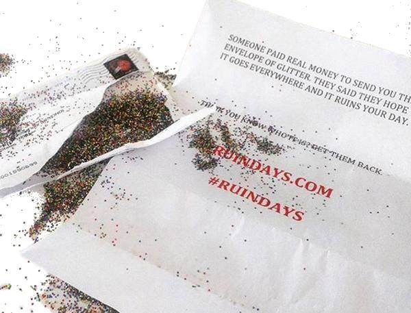 Glitter Everywhere Envelope - Ruin Days
