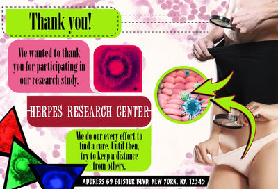Herpes Research Center Embarrassing Postcards
