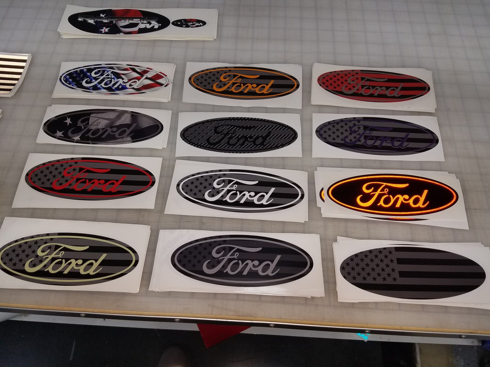 Matte ford badge overlay