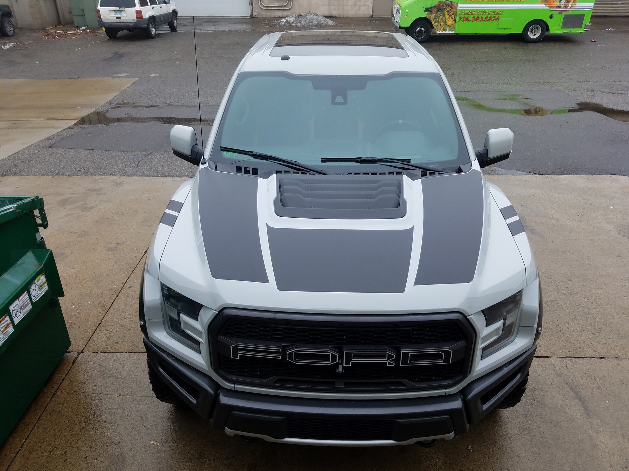 2017 Matte Black 3 Piece Combo Hood Decal