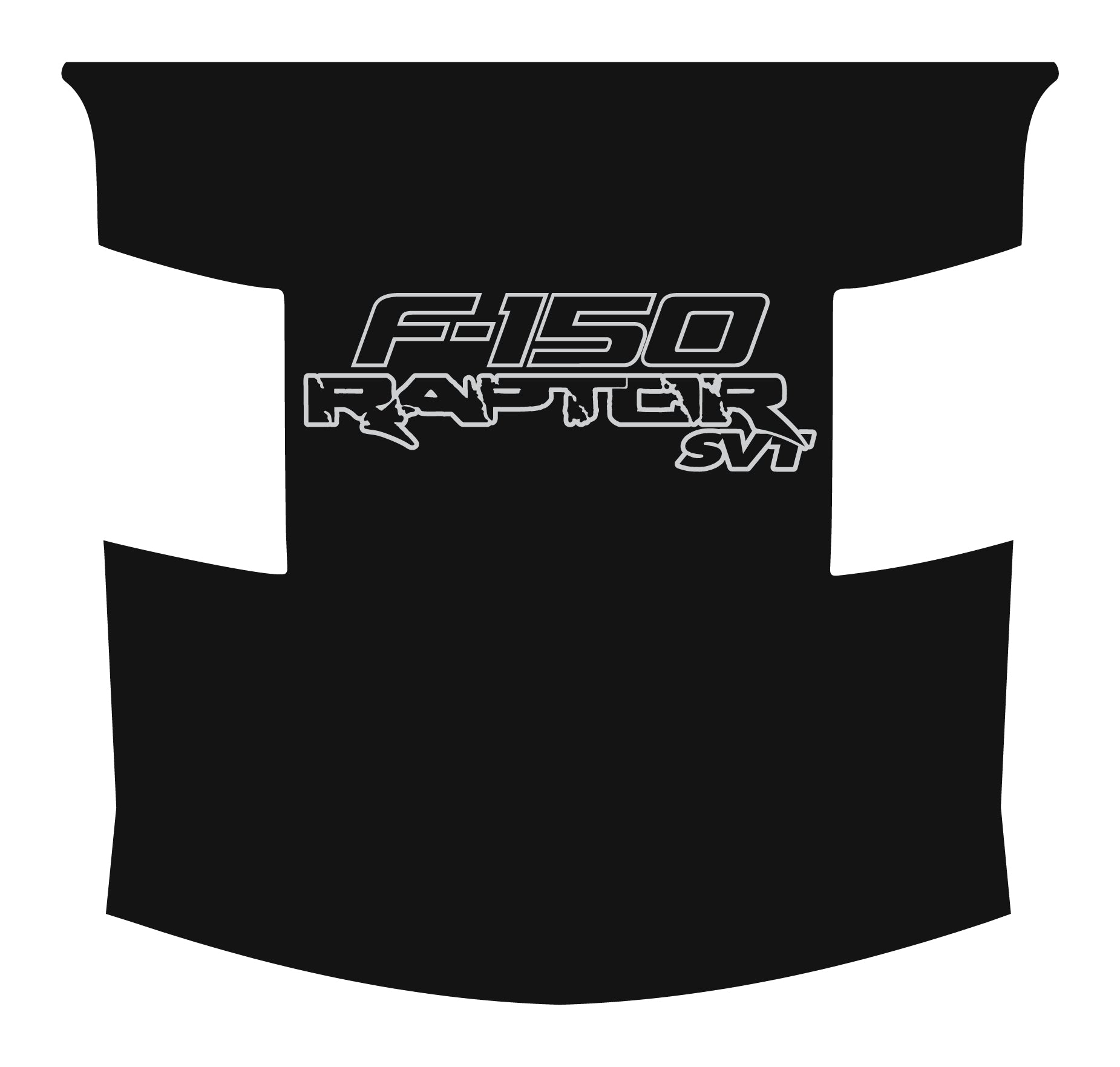 Full Length Outlined F-150 Raptor SVT Hood