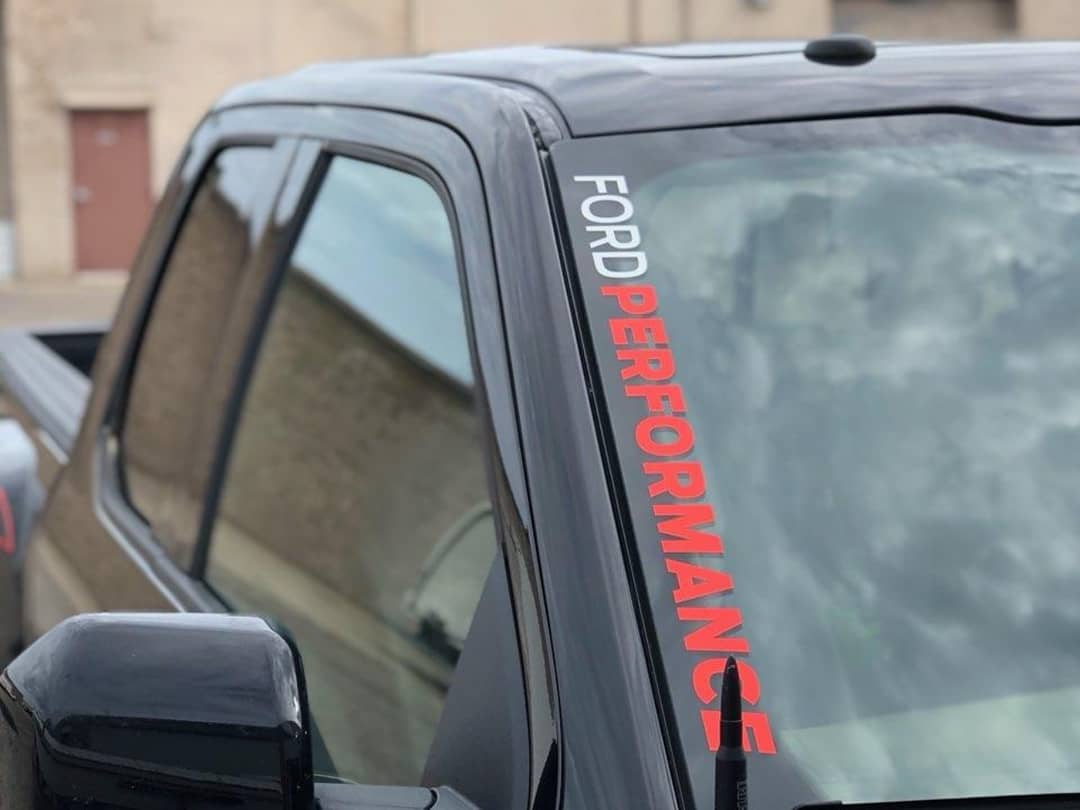 Ford Performance A Pillar Windshield Decal