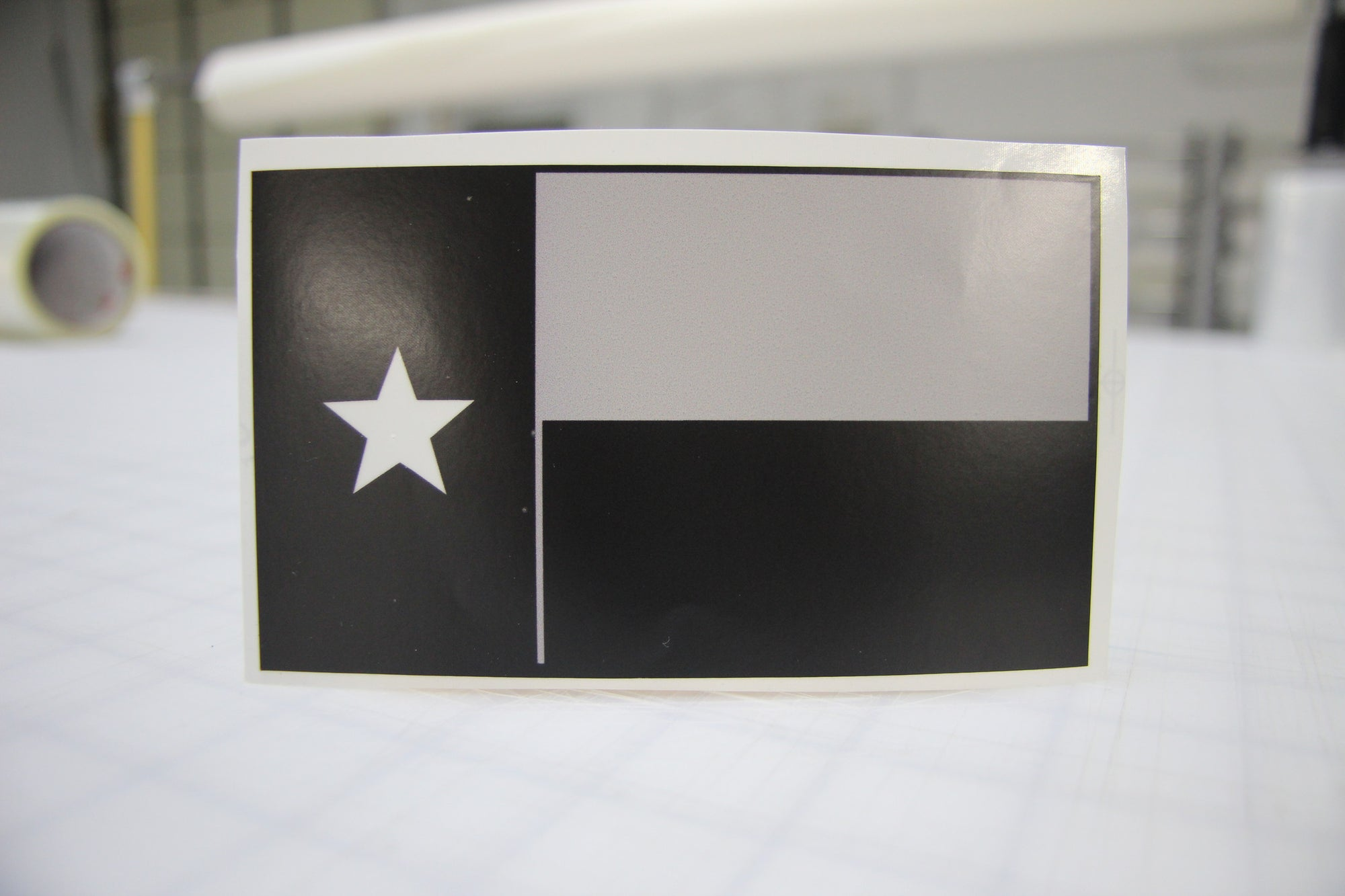 Black & Gray Texas Flag