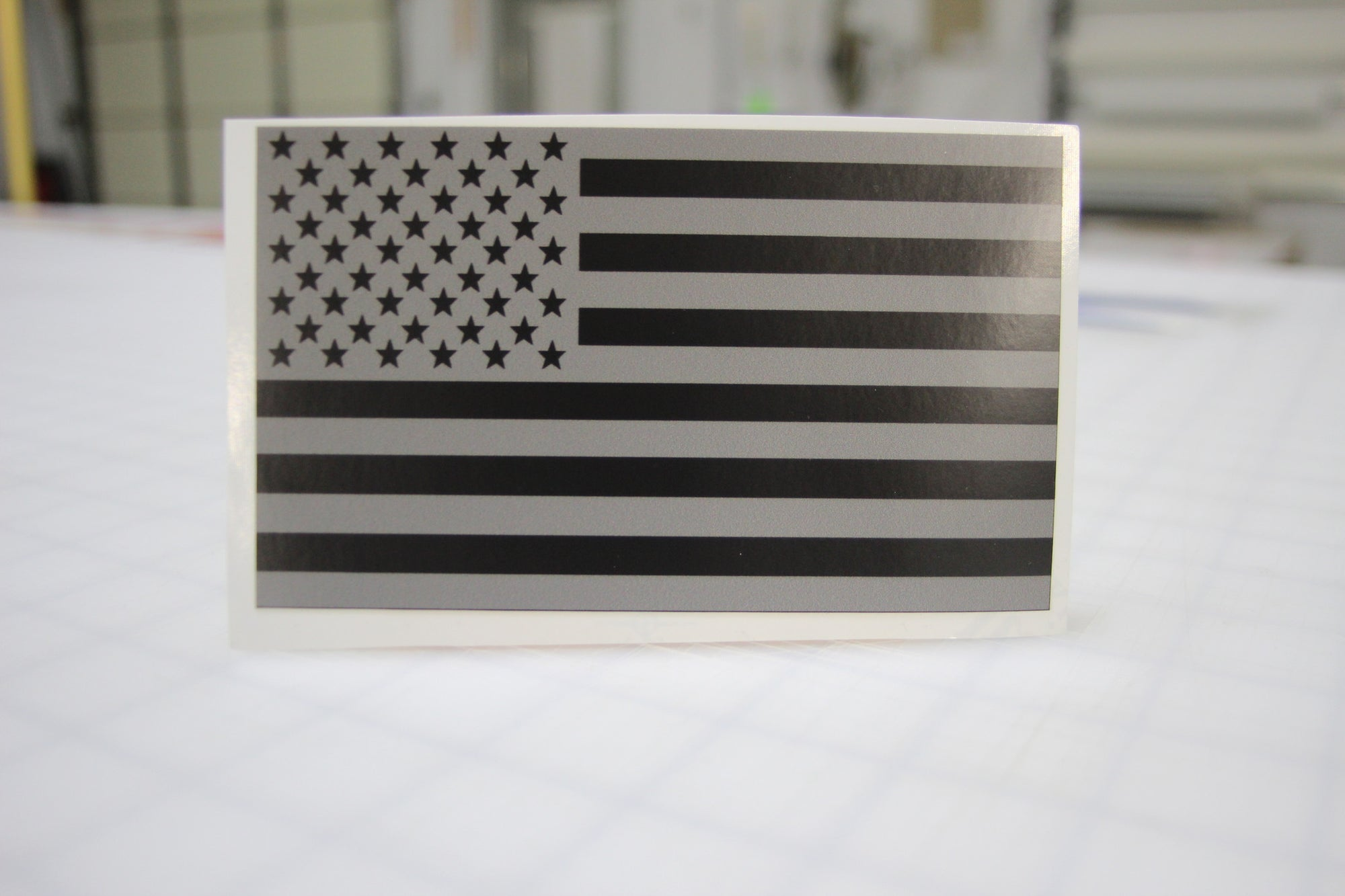 Black & Gray American Flag