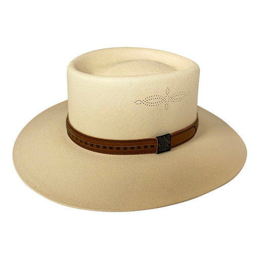 Angel Eyes Wide Brim Hat Handmade from 100% Oaxacan Cotton - Light Brown