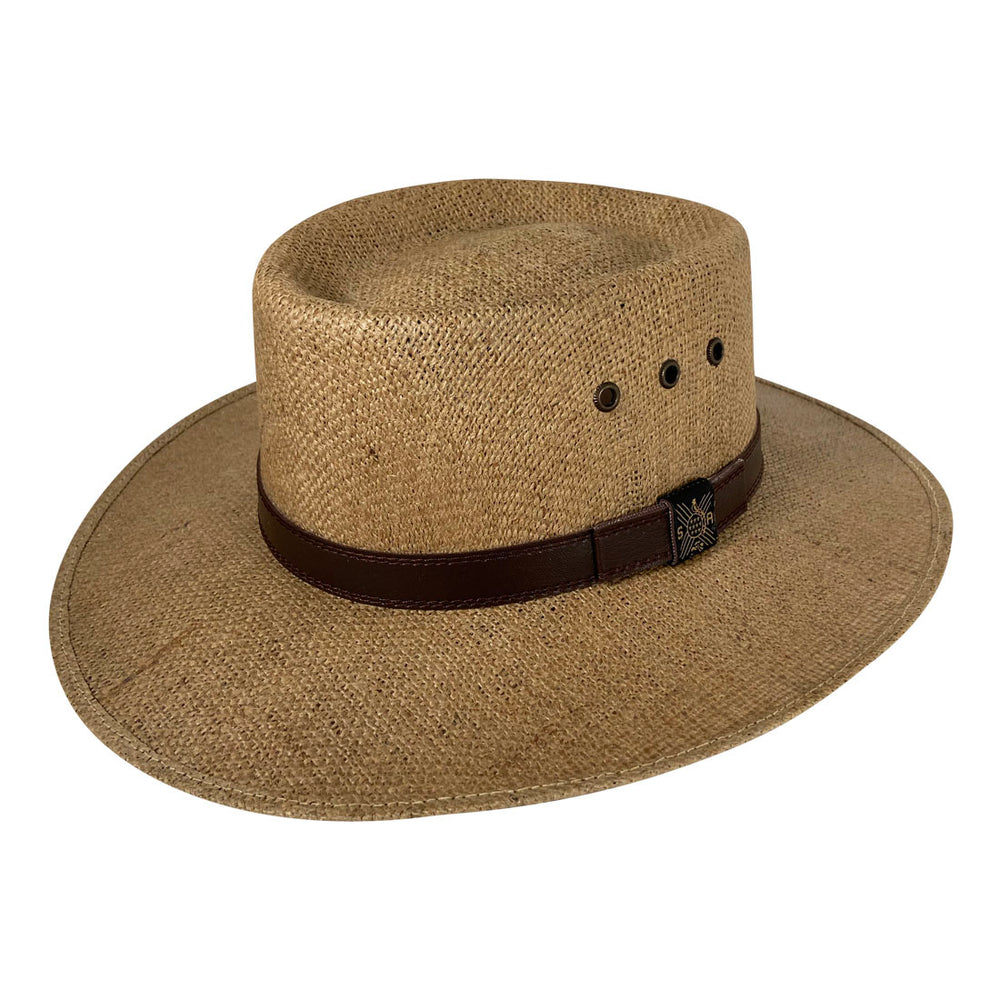 Angel Eyes Wide Brim Hat Handmade from 100% Oaxacan Jute - Dark Brown