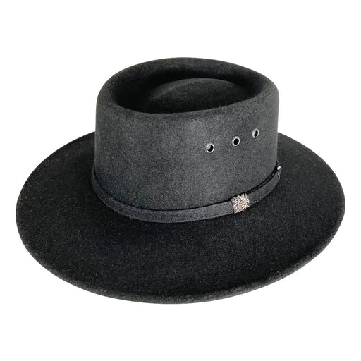 Angel Eyes Wide Brim Hat Handmade from Oaxacan Sheep's Wool - Black