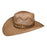 Indiana Eastwood Cowboy Hat Handmade from Wood Pulp Raffia - Dark Brown