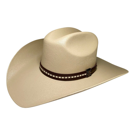 Wide Brim Cowboy Hat Handmade from 100% Oaxacan Cotton - Dark Brown