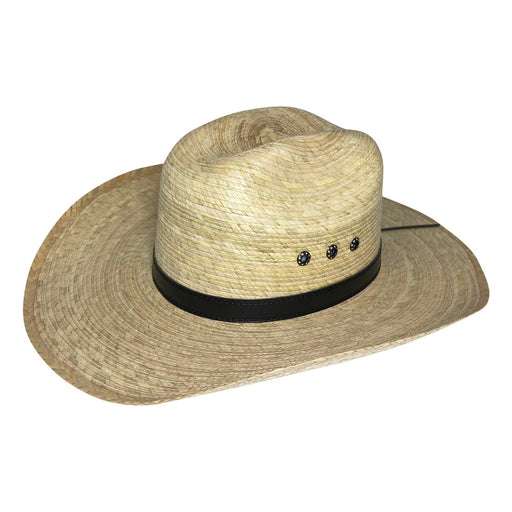 Wide Brim Cowboy Hat Handmade from 100% Coconut Palm Leaves - Light Brown