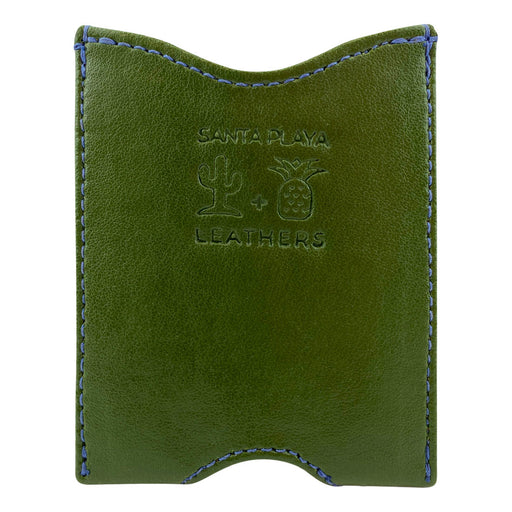Fruit & Vegetable Front Pocket Wallet - Cactus & Pineapple Leathers - Cactus Leather Exterior with Pineapple Leather Interior
